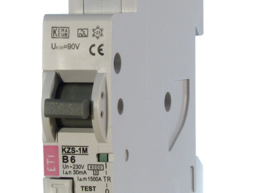Zaštitne sklopke na diferencijalnu struju nadstrujnom zaštitom ETI